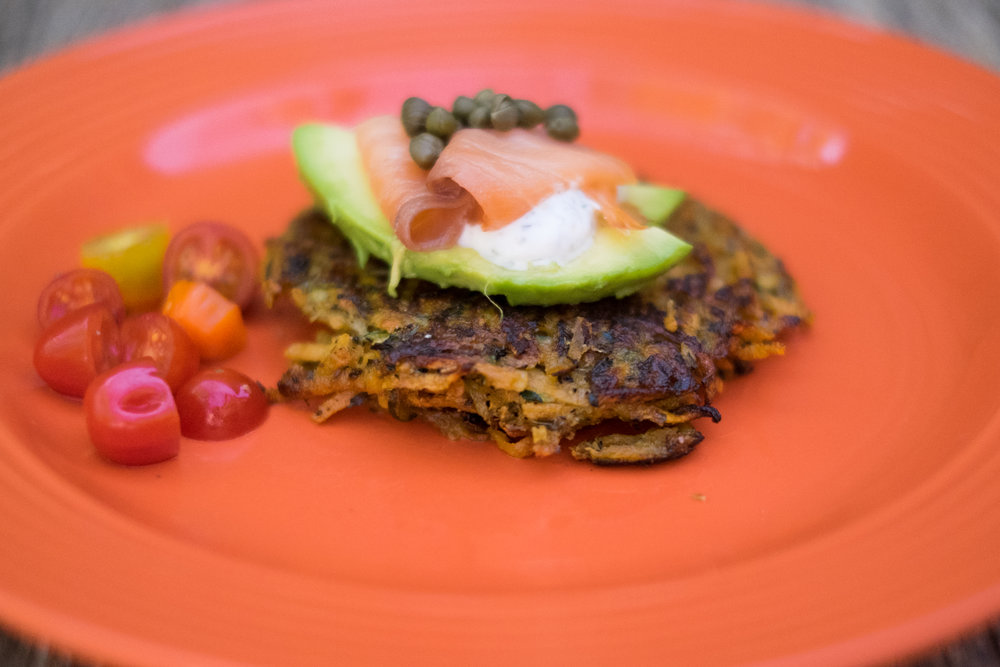 April Course 4 - Sweet Potato + Zucchini Latkes.jpg