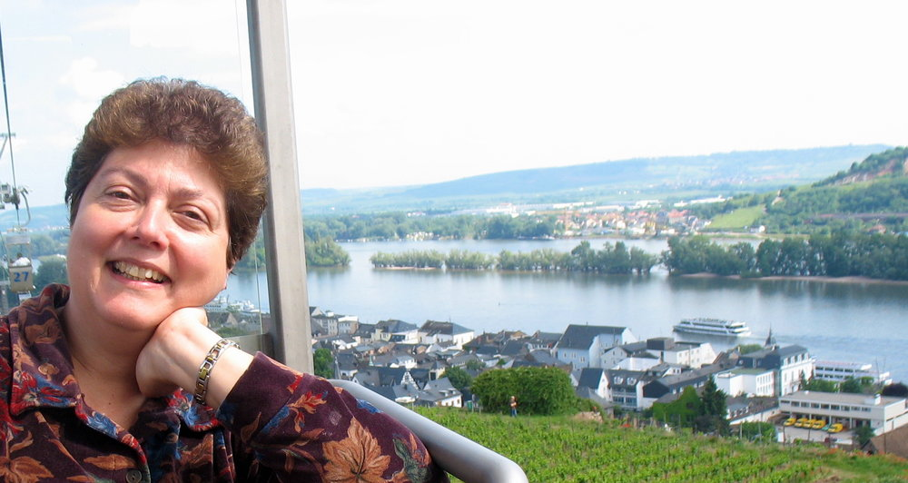 Dr. Ada by the rhine river in germany