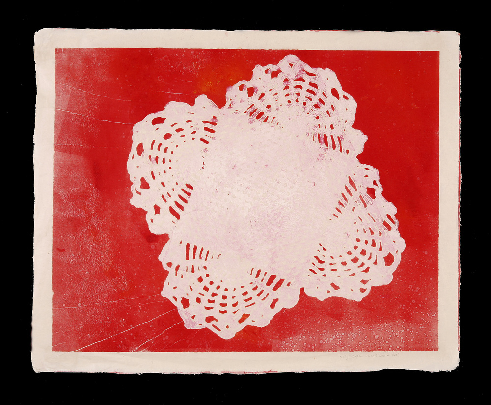 Doily on Red