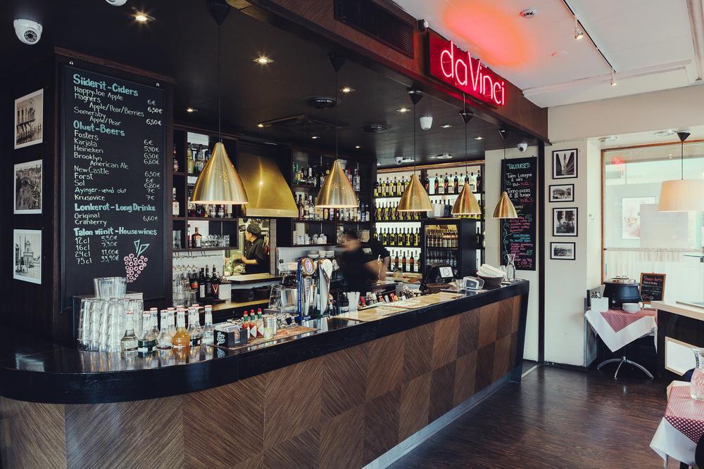 Inside restaurant DaVinci