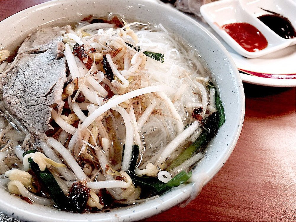 Bee hoon with sliced pork