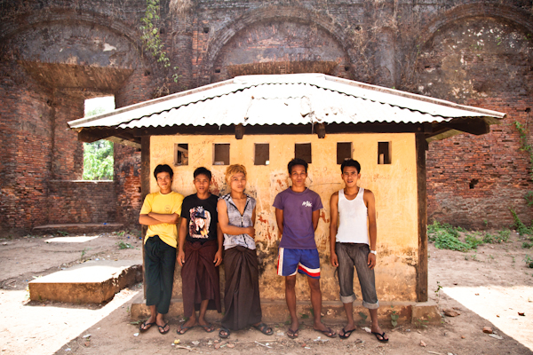 This group of boys were hanging around in an old church ruin on the outskirts of the city. They had been celebrating Thingyan, the Burmese New Year water festival, the night before.