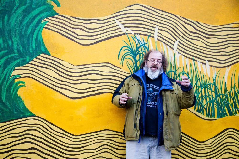 "Harold, Commercial Drive ""I moved from Vancouver Island out to Calgary for 20 years. I wanted to pursue new things, get a different look at life, see different parts of Canada and have a fresh start. I didn't know anybody, and it was actually quite nice.  I spent time in snow sleeping on the streets, and I think it makes you a better person in a sense, because it gives you a different perspective of life and how to appreciate people. Everyone takes life for granted – every day you wake up walking, and breathing. I'm a person on disability so I don't get much, but I appreciate what I do get and you move on from there. The poorest people in life can be the happiest people. The richest people the most miserable. It's the ability to appreciate humanity."""