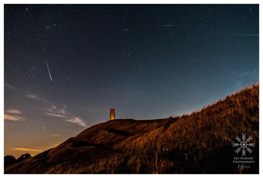 Perseids Meteors Over Tor -