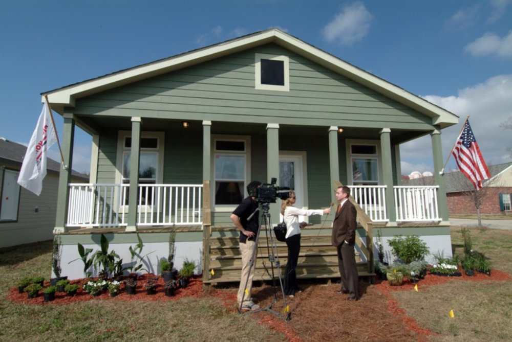 One of the replacement homes that was built with the Manufactured Housing Institute and the Gulf Coast Initiative after Hurricane Katrina
