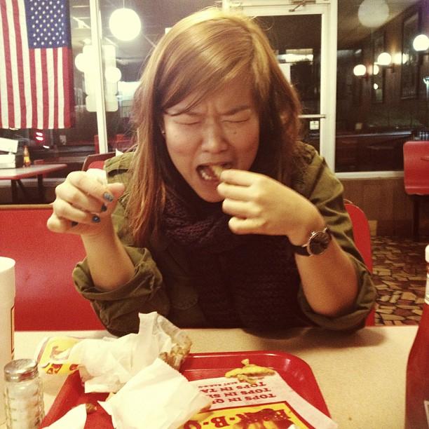 Shaking and creying and eating #noms (at Tops Bar-B-Q)