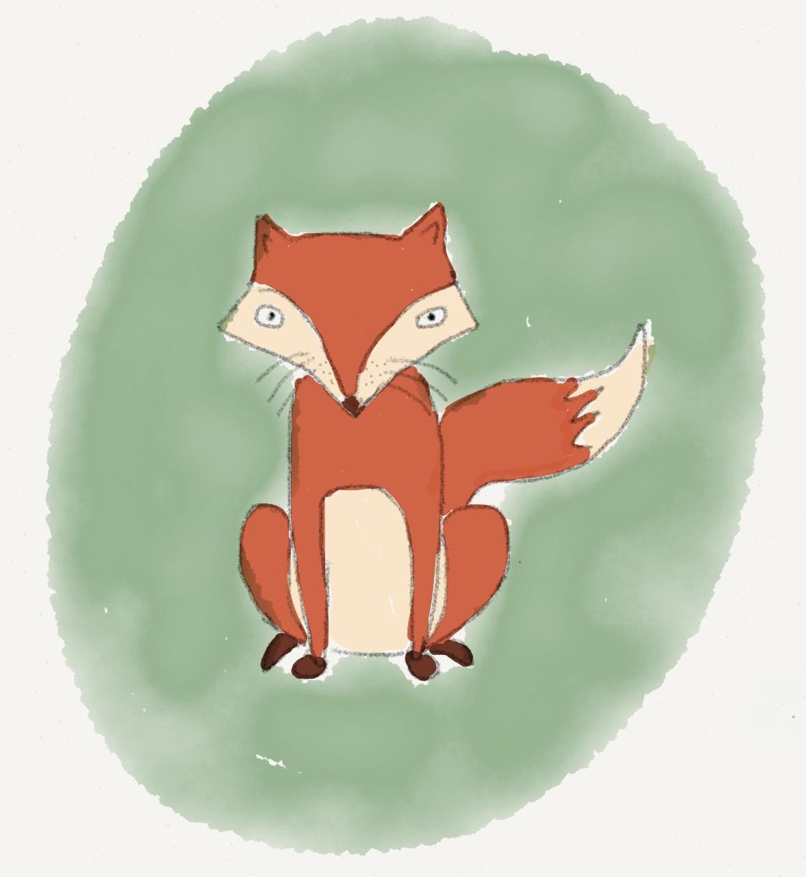 A fox I drew