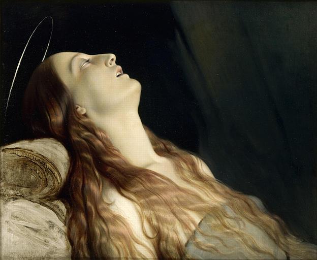 princessepouffy :     Paul Hippolyte Delaroche (1797-1856), Louise Vernet, la femme de l'artiste sur son lit de mort, 1846