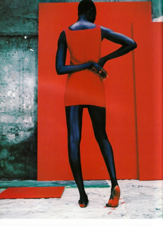 elastique: Alek Wek by Jean Baptiste Mondino