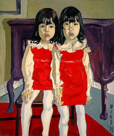 fyeahwomenartists: Alice Neel The De Vegh Twins, 1975 (via Weird wonderland: Alice Neel at the Whitechapel Gallery | Art and design | guardian.co.uk)