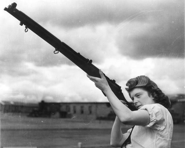 "wurzeltod: (via cousas) This is from Life magazine (cropped watermark): ""Some 72,000 women would join the Wrens (Women's Royal Naval Service), freeing British sailors for combat duty by taking on home front jobs, like this Wren, an armorer at a Scottish Royal Air Force Base."" (via fukaeri-deactivated20100704-dea)"