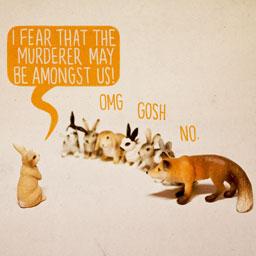 "(via ""Murder Mystery"" - Giclée Print by Aled Lewis)"