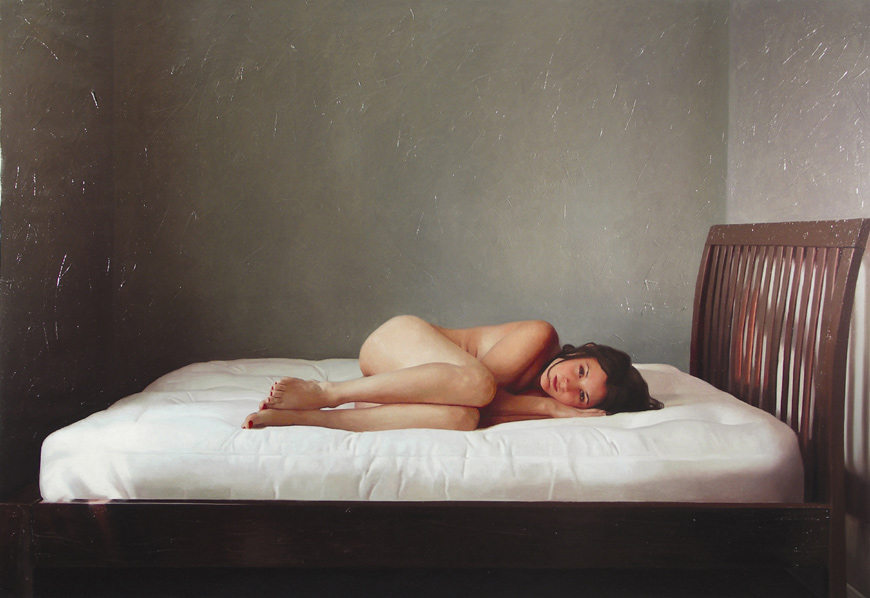 admiratio :      blogut :      missculture :      we can yearn for solitude as much as we yearn for love.  perhaps even more.    Title: Welcome To (oil on linen)  Artist:   Alyssa Monks    Year: 2005   Alyssa Monks - what an amazing talent!     More from Alyssa  here .