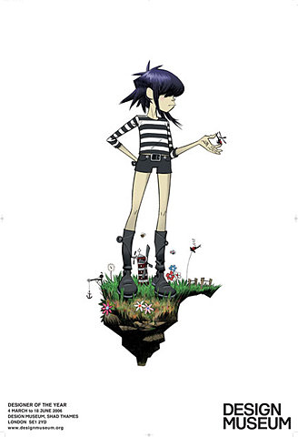 FFFFOUND! | Design Museum Shop: All Products > Posters + Prints > Gorillaz: Noodle Poster