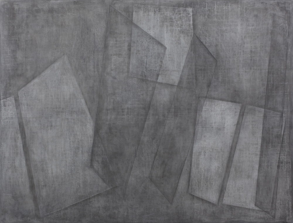 Ghosts, 2009 – 2012, acrylic and graphite on canvas, 110 x 144 cm