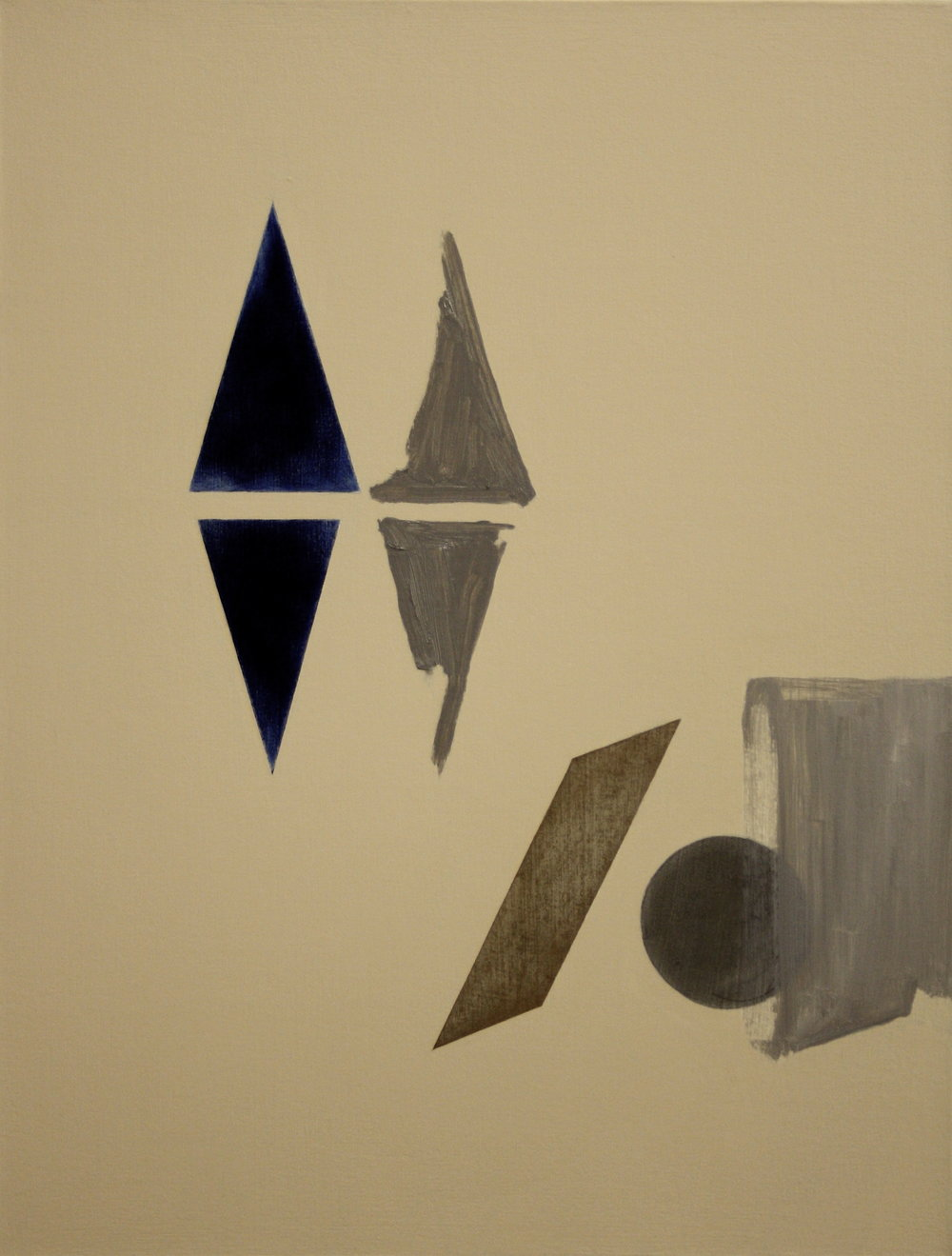 Degrees of Separation 3, 2010, oil, acrylic and graphite on canvas, 56 x 43 cm
