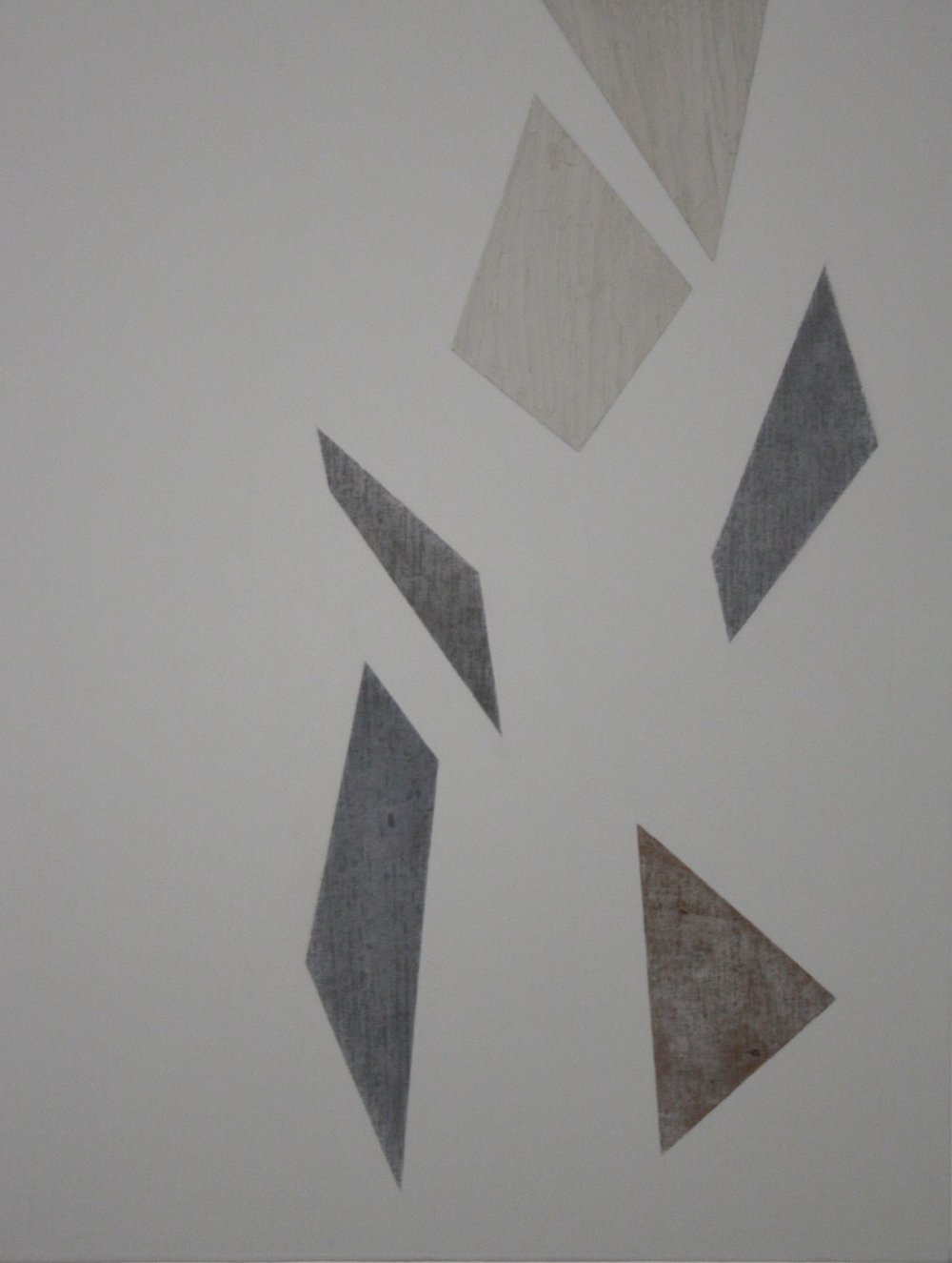 Degrees of Separation 1, ii, 2010, acrylic and graphite on canvas 56 x 43 cm