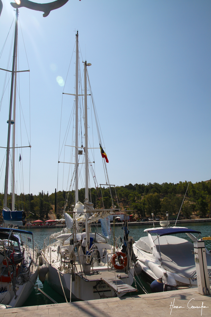 Our ship Oxalis moored in Galaxidi