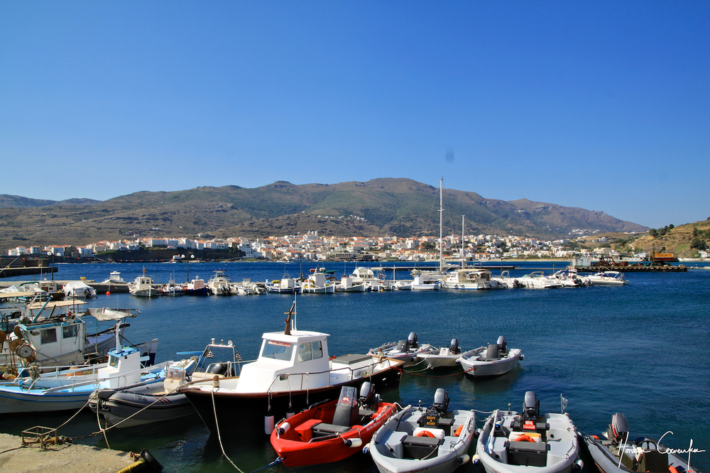 View of Kastron from the port