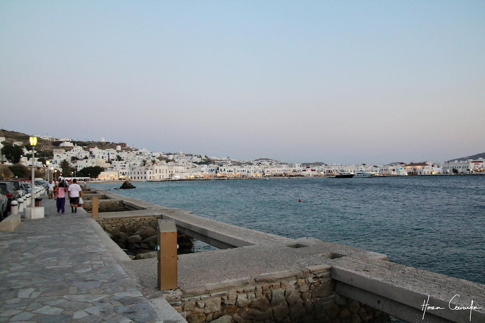 Approach to Mykonos