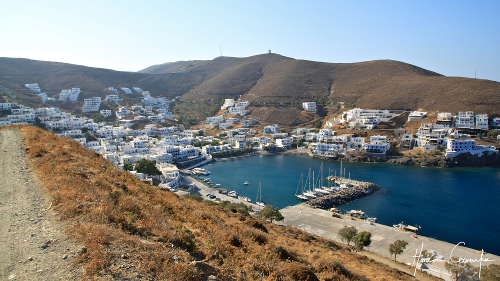 View of the port of Astypalaia.
