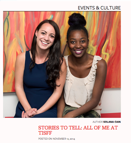 Big thanks to She Does The City and Solana Cain for talking with us about our company and our short film 'ALL OF ME' screening at the Toronto International Short Film Festival. Check out the article below! http://www.shedoesthecity.com/stories-to-tell