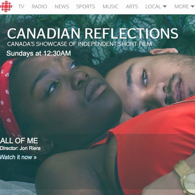 Mark this in your calendars! Our debut film 'ALL OF ME' will air on CBC's Television Program Canadian Reflections, which showcases independent short film from around Canada. Tune in on: Sunday August 9th 2015 at 12:30AM Sunday April 24th 2016 at 12:30AM