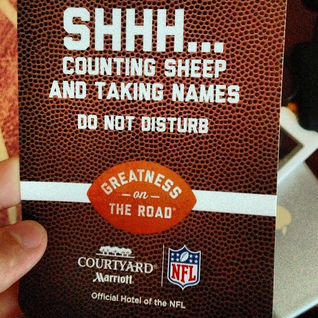 #Marriott and the #NFL team up to count sheep and take names.