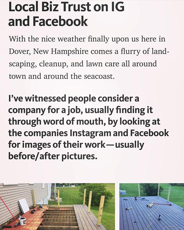 #dovernh #woodsocial #603 #nh #landcare #newhampshire #socialmedia #roi #bizdev #garyvee