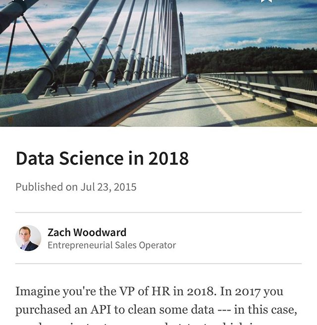 https://www.linkedin.com/pulse/data-science-2018-zach-woodward #nh #603 #data #analytics #boston #newhampshire #concordnh #dovernh #mktg #hr #sales #woodsocial #woodcoin