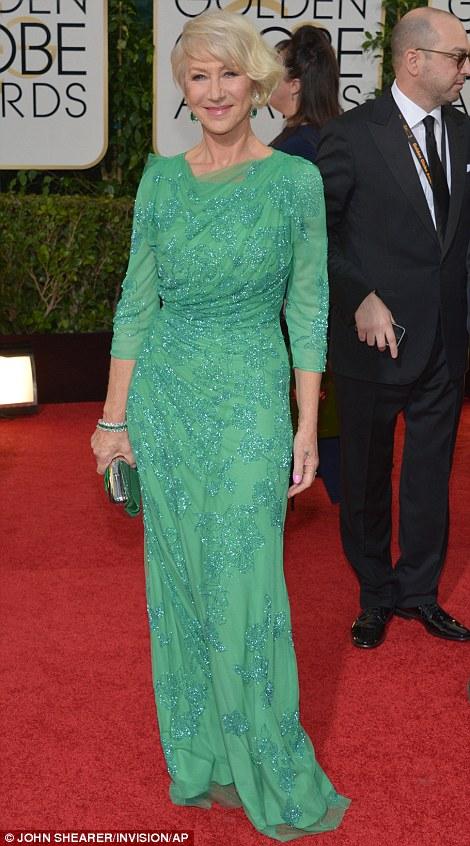 Helen Miren in Jenny Packham