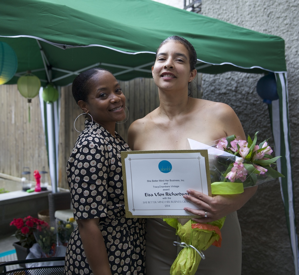 My first micro grant awardee Eisa Ulen-Richardson from Camp Fort Greene