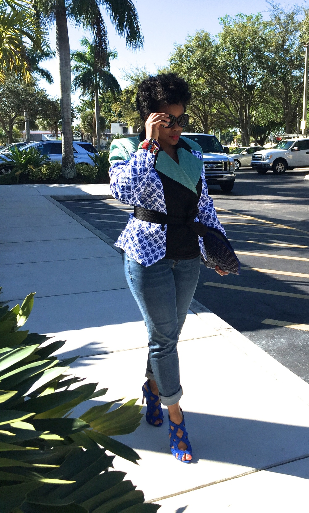 Peter Pilotto  for Target jacket/Old Navy denim/Zara sandals