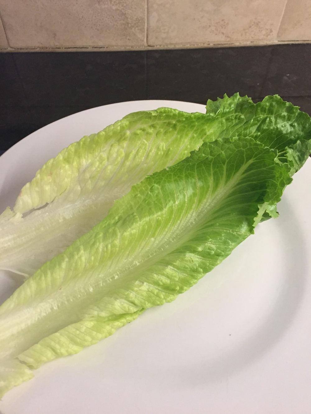 Start with crisp and clean lettuce leaves.