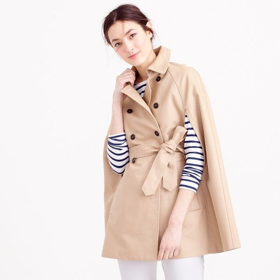 JCrew Trench Cape $178