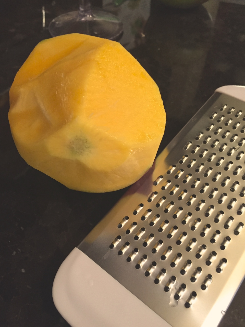Grated fresh mango makes the flavor burst...yum!