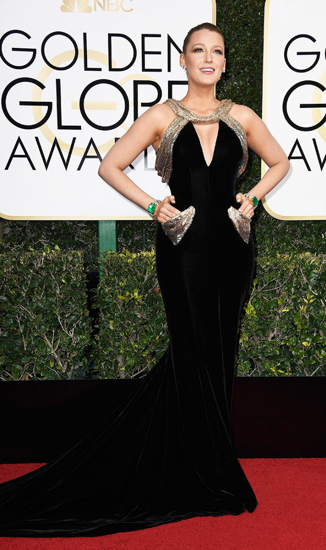 Old Hollywood Glamour perfection!!!! Blake Lively in this  Atelier Versace  gown is giving me old hollywood glam. This would be my personal pick for the red carpet!