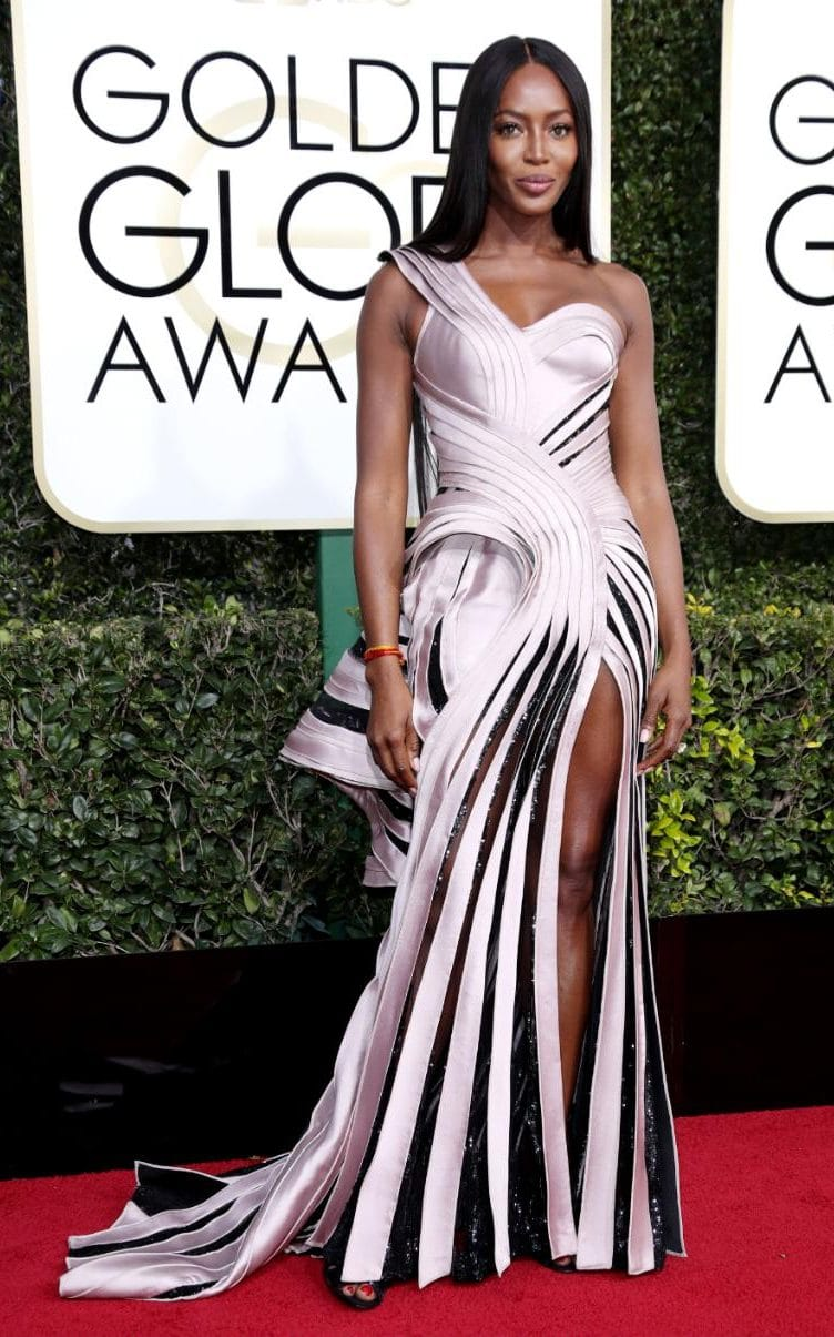 Mama Naomi holding court in  Atelier Versace ...the detail in this gown is remarkable!