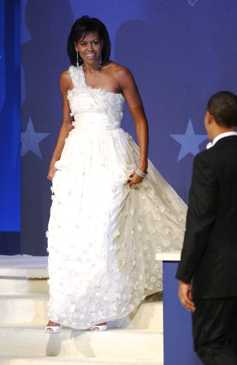 Her first inauguration in Jason Wu. I thought this gown was magic..so light an airy!