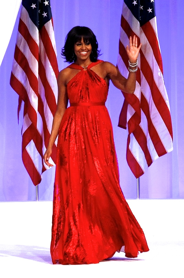 For inauguration number two she brought the fire in Jason Wu.