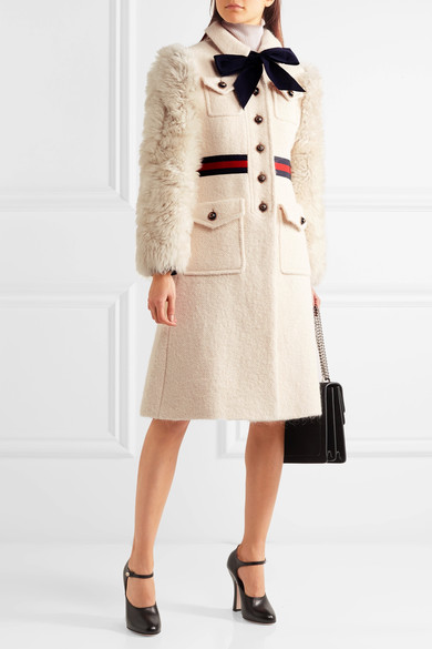 So this was the coat that prompted this blog post in the first place! Gucci perfection...such a fancy and classy lady!