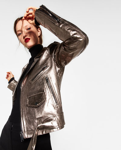 I love this motorcycle jacket from Zara. You could wear this for three seasons out of the year.