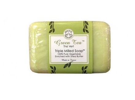 Good old Trader Joes! You can't go wrong with this fatty triple milled soap Green Tea soap. The scent is light and clean and helps clear the clutter in my mind.