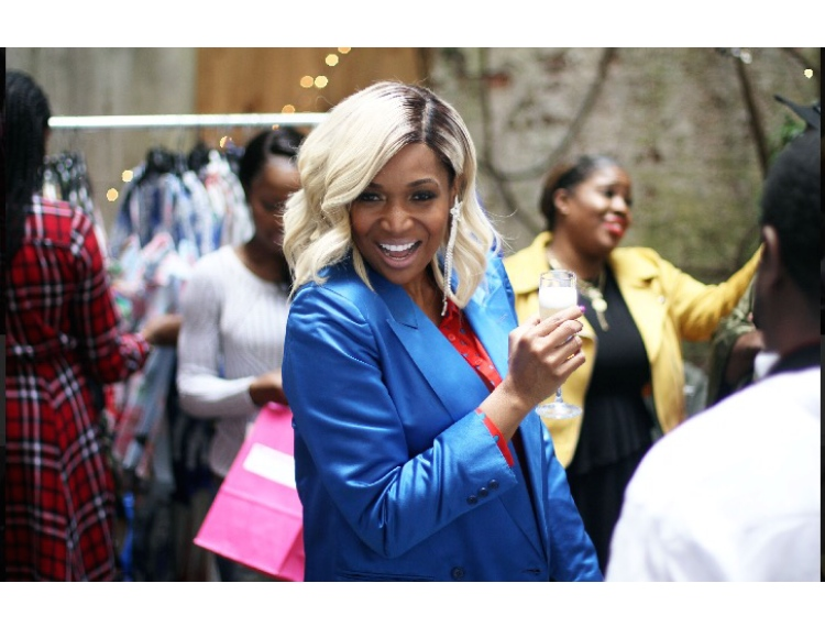 Marlo Hampton giving major color in her Harvé Bernard vintage silk blazer from TracyChambers Vintage.