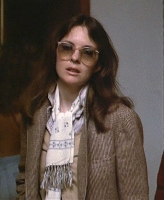 Diane Keaton in Annie Hall. Let the fall layering begin...classic tweed/wool blazer, sweater, shirt and scarf.