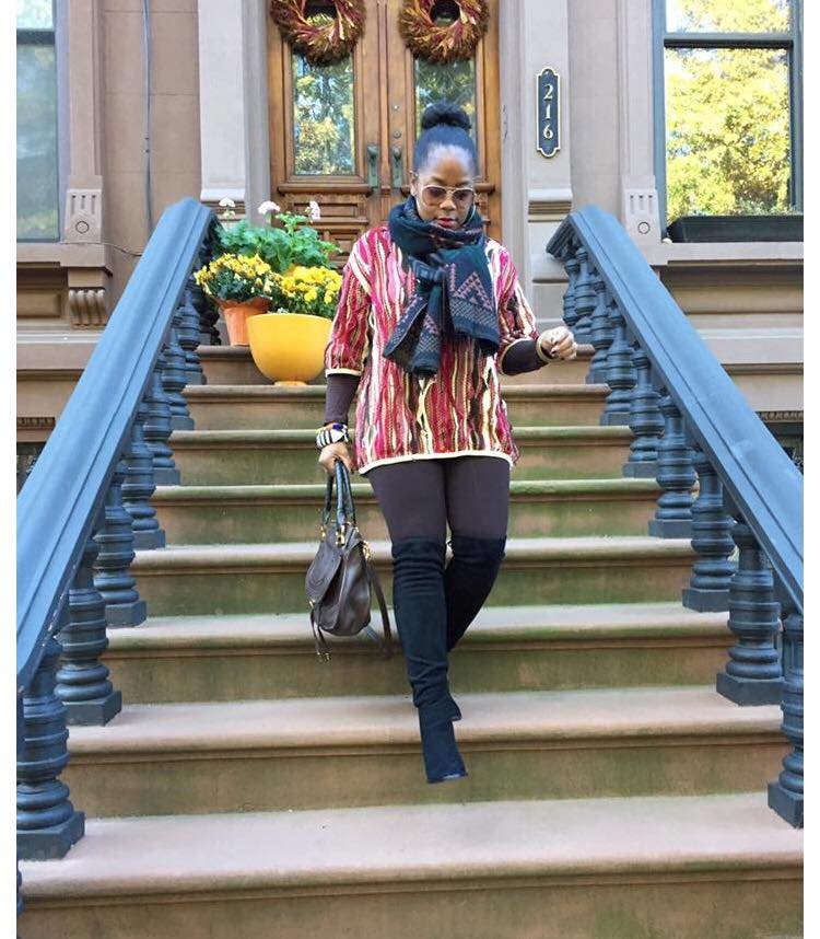 My favorite statement sweater! Nothing beats a Coogi classic! Just add some thigh highs and  colorful scarf  to make sure you won't look like a carbon copy.