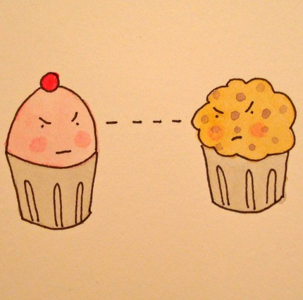 Serious Eats: Cupcake vs. Muffin — toldorknown Reminded me of this: — contemptslot