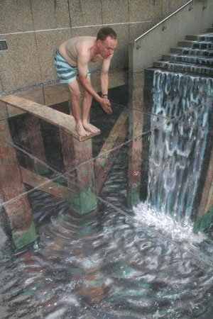 Julian Beever's pavement drawings