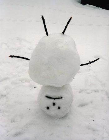 Non-conformist snowman  (thanks,  szymon ) —  marco