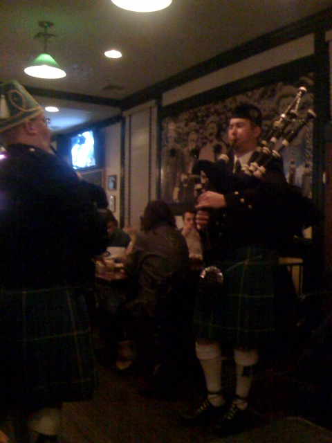 bagpipers, while we were out to dinner tonight at a local pub   (via  marco )
